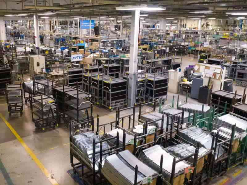 Appliance assembly area cell in Roper manufacturing plant
